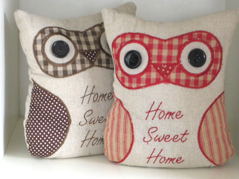 Shabby Chic Home Sweet Home Owl Doorstop Available In Red