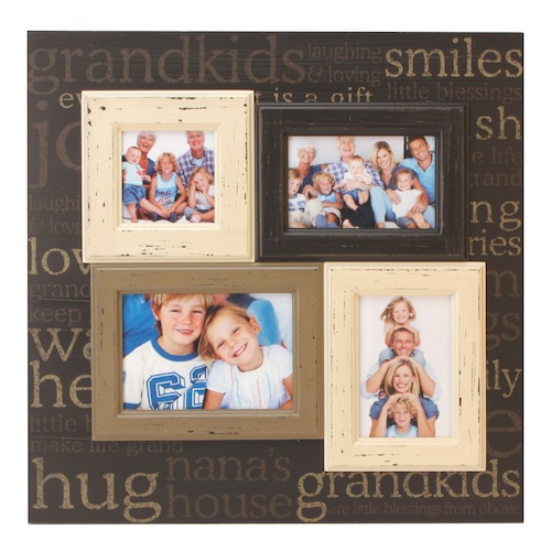 Vintage Chic Large Wooden Grandkids Collage Photo Frame Nv280