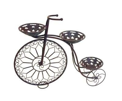 Ornamental Penny Farthing Bicycle Planter 3 Pots