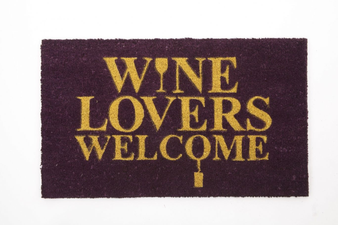 Quality Coir Doormat With Novelty Slogan Wine Lovers Welcome