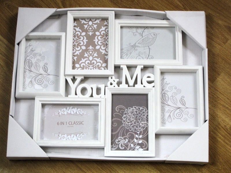 You Me White Collage Photo Picture Frame 4544